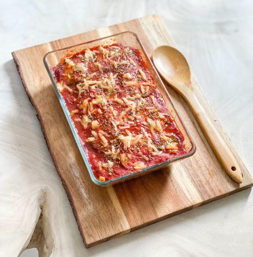 Parmesana vegana con Calabizo