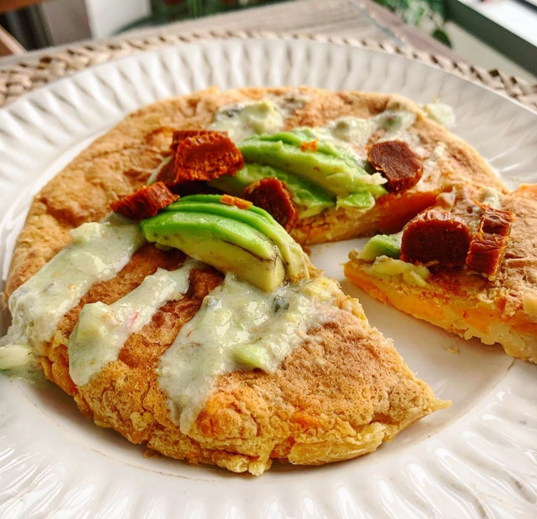 Tortilla vegana de boniato