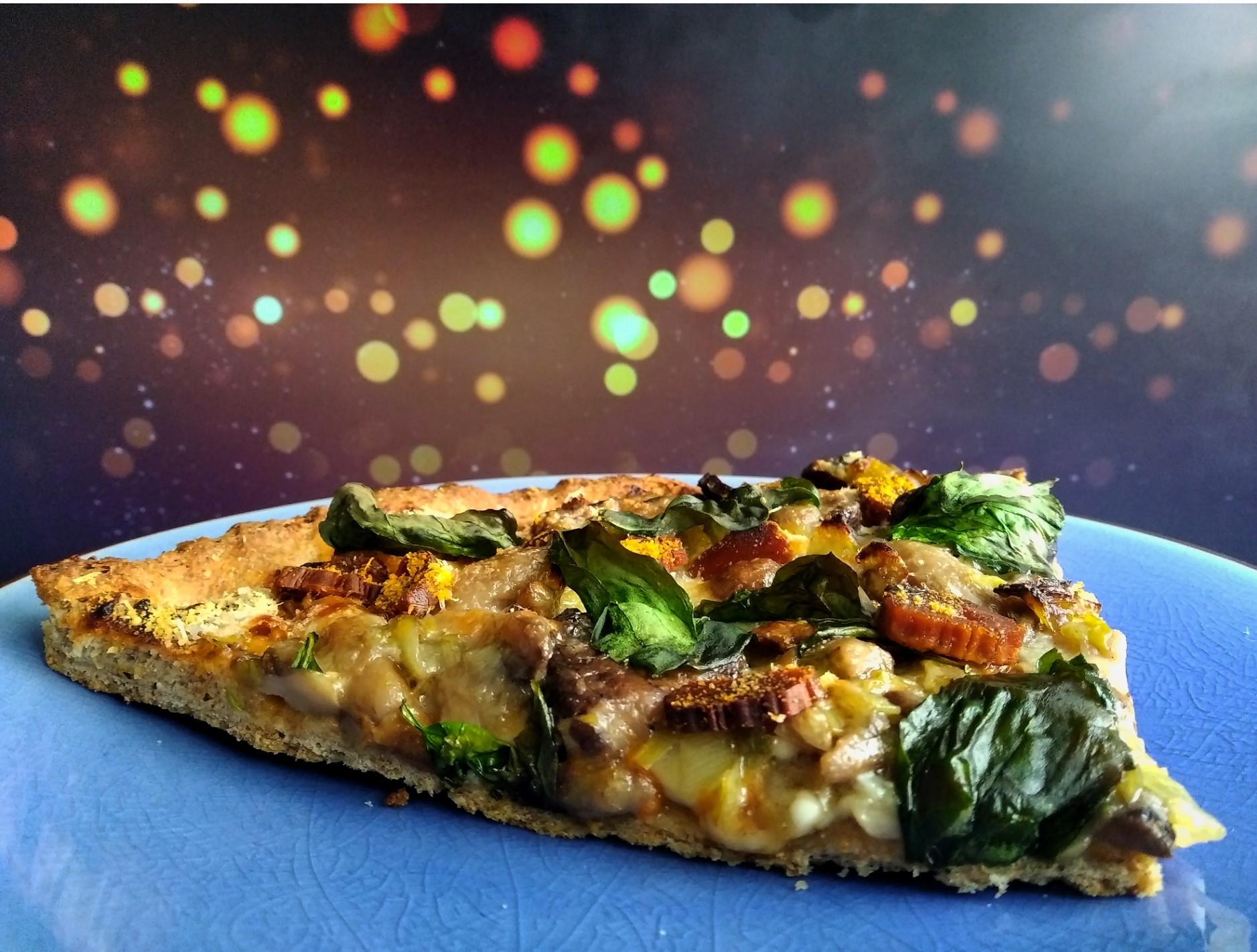 Pizza de setas y Calabizo