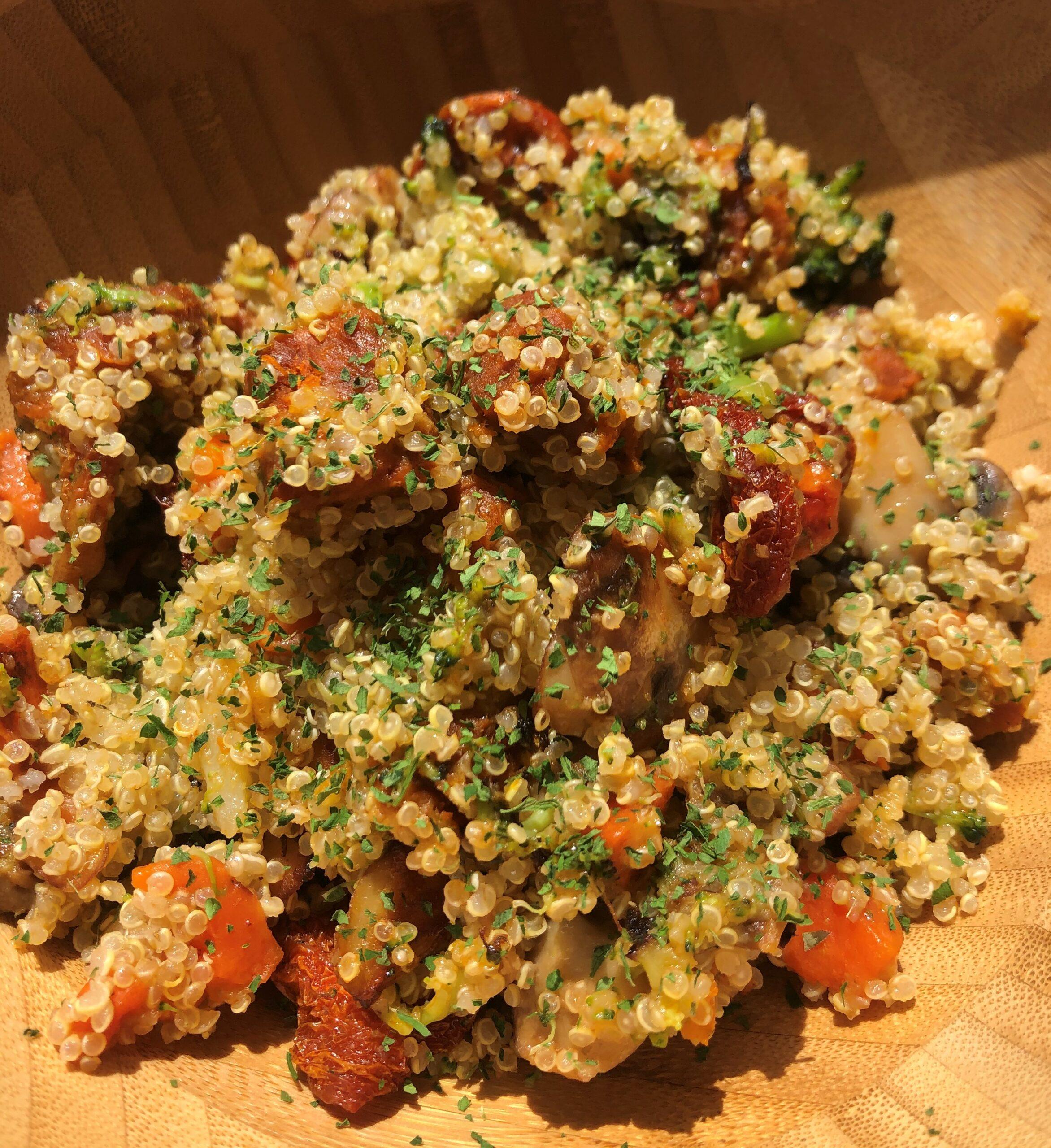Quinoa con verduras y Calabizo