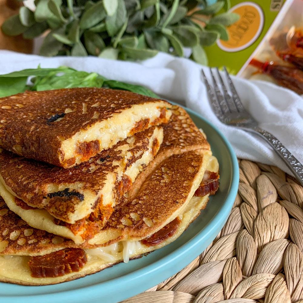 Tortilla francesa vegana de queso y calabizo