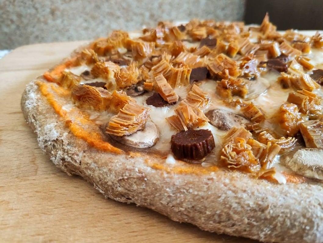 pizza de calabizo y yuba