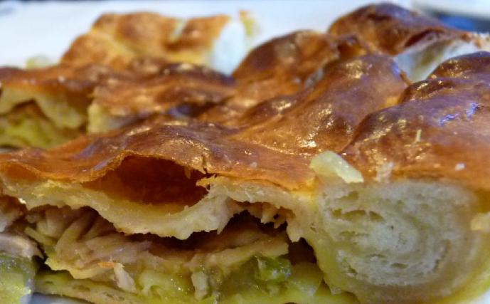 Empanada gallega con calabizo