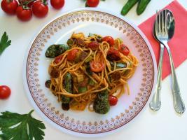 Sabrosa receta de espaguetis integrales con sabor a Galicia