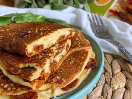 tortilla vegana de queso y calabizo