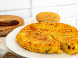 tortilla vegana de patatas con calabizo